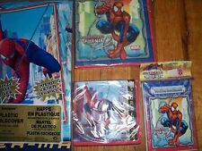 4pc Lot Unique Ultimate Spiderman Birthday Multi-color Party Goods  NOS