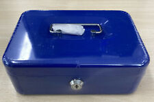 Key Lock Petty Cash / Piggy Bank Money Box Tin Safe Lockable - 8 Inch