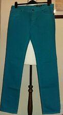 Just cavalli mens slim fit jeans Teal Green size W33 L34