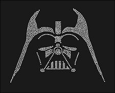 Star Wars Darth Vader Silhouette Inspired Fan Art Rhinestone Iron On Transfer