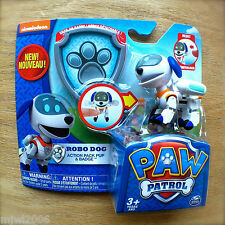 Nickelodeon PAW PATROL ROBO DOG Action Pack Pup & BADGE Robot ROBODOG pop-out K9