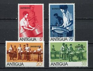 27551) BARBUDA 1974 MNH** Nuovi** Musical Instruments  4v