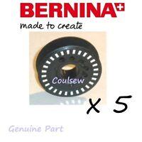BERNINA SEWING MACHINE JUMBO BOBBINS x5 Fit 710 750 780 7 Series GENUINE BOBBINS