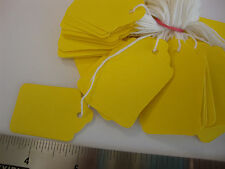 100 YELLOW gioiello TARGHETTE LEGATE BIANCO etichette prezzi SWING = 27mm x 43mm