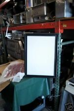 LIGHTED MENU SIGN (NEW) WHITE BOARD W/ BLACK TRIM