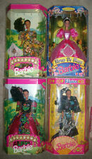 Lot of 4 1991 MESTIZA DRESS FILIPINA BARBIE LED 500 -PhilippinesFloresDeMayoRARE