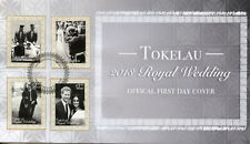 Tokelau 2018 FDC Prince Harry & Meghan Royal Wedding 4v Set Cover Royalty Stamps