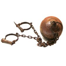 Alcatraz Ball and Chain Rusty Antique Style Cast Iron Prop For Prisoners