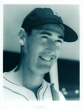 TED WILLIAMS 8X10 PHOTO BOSTON RED SOX MLB BASEBALL PICTURE CLOSE UP B/W