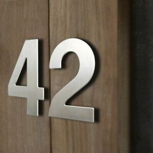 15cm House Number Sign Outdoor Silver 6 In. Door Numbers Signage Home Address