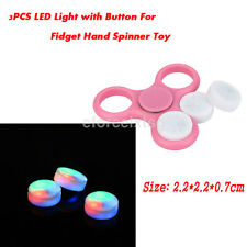 3PC LED Colorful Light with Button Replace Part For Glow Tri Fidget Hand Spinner