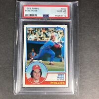1983 Topps #100 Pete Rose Philadelphia Phillies PSA 10 GEM MINT