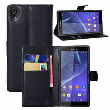 HOUSSE ETUI COQUE CUIR LUXE PORTEFEUILLE A RABAT SONY ERICSSON XPERIA Z