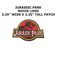 "Jurassic Park Movie Ranger Logo 3.25"" Embroidered Iron/Sew-On Patch US Seller"