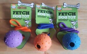 x3 Good Boy Fetch Puppy / Dog Toys - Ball on Rope
