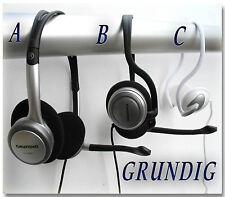 GRUNDIG Headsets m. Kopf-/ Nackenbügel STEREO Kopfhörer für PC Computer Laptop