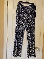 Womens ROBERT LOUIS Blue/white/Black Polyester Pants Size 1X
