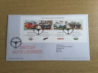 GB 2013 BRITISH AUTO LEGENDS MINI SHEET First Day Cover ALWALTON Pmk