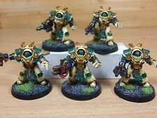 5 FORGEWORLD CHAOS DEATH GUARD GRAVE WARDEN TERMINATORS PAINTED (L)