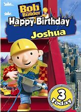 - BOB THE BUILDER - IDEAL FOR SON GRANDSON CHILDREN'S PERSONALISED BIRTHDAY CARD