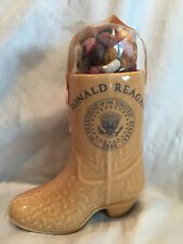"President Ronald Reagan ""Cowboy Boot"" Ceramic Porcelain White House Give Away"