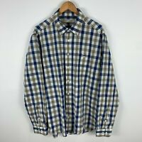 RM Williams Mens Button Up Shirt 2XL Multicoloured Check Long Sleeve Collared