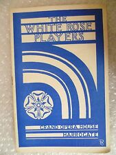 Grand Opera House Theatre Programme THE CIRCLE- White Rose Players