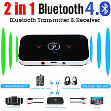 2in1 Wireless Bluetooth Transmitter+Receiver Box AUX/Cable for Audio TV Speaker