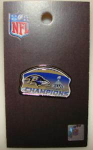 Button NFL Baltimore Ravens Lapel Pin 2012 Super Bowl 47 XLVII Champions Badge