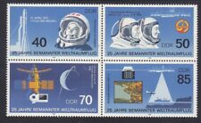 Germany DDR 2531a MNH 1986 Manned Space Flight 25th Anniversary Block of 4 VF
