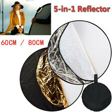 60cm/80cm 5 in 1 Photography Photo Studio Multi Disc Collapsible Light Reflector