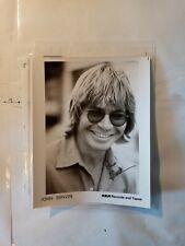"""original autographed 8 by 10 photo of John Denver signed """"Peace John Denver"""""""