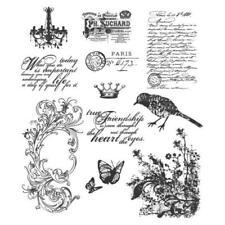 Tim Holtz Rubber Stamp Set-shabby Français cms-LG 087