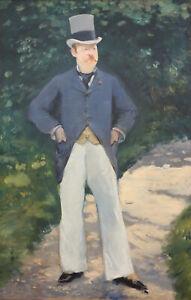 "Edouard Manet - Portrait of Monsieur Brun (1879) - 17"" x 22"" Fine Art Print"
