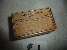 #1 antique medicine cardboard  box Harry E Tucker  Druggist TURNERs Falls Mass