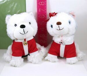 "Hallmark Jingle & Bell 7"" Plush Santa Christmas Outfit Puppy Dogs ~NO SOUNDS"