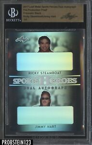 2017 Leaf Metal Pre-Production Proof Prismatic Black Steamboat Hart BGS 1/1