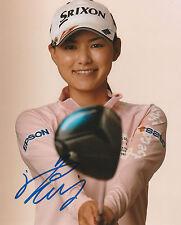 SAKURA YOKOMINE SIGNED AUTO'D 8X10 PHOTO POSTER LPGA TOUR JAPAN SRIXON B