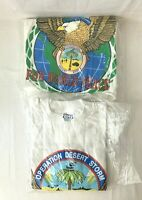 Vintage 1991 Desert Storm T Shirt Graphic Tee Shirt Lot of 2 NIP