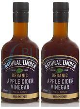 Natural Umber Organic Apple Cide Vinegar - 500ml (Pack of 2)