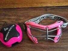 Stx Sight Plus Girls Women's Lacrosse Eye Mask Protection & Shock Dr. Case pink