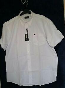 Green Bay Mens Classic Linen Short Sleeve Shirt Business White Shirt Sz S~BNWT