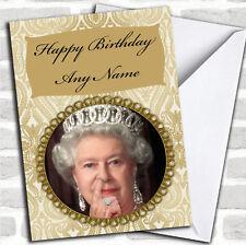 Funny Queen nez Pick Anniversaire Personnalisé carte