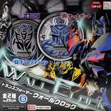 Transformers Wall Clock Black Scope Decepticon Logo