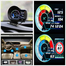 English Version Car OBD2 Digital Turbo Boost Oil Multi-Gauge Speedometer Display