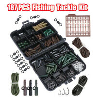Sea Fishing Tackle Set Boxed New Rigs Swivels Beads Bait Clips Link Kit 187Pcs