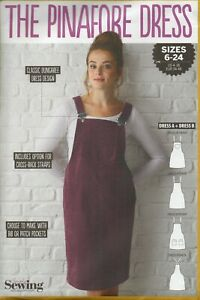 Simply Sewing Pattern for The Pinafore Dress, Sizes 6-20, Dungaree Style, New