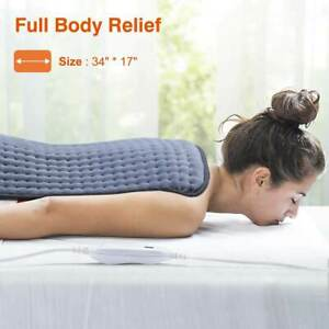 Electric Warming Heating Pad Mat with Controller Neck Shoulder Waist Pain Relief