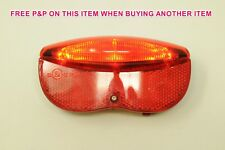 DUTCH STYLE 3 LED BIKE REAR LIGHT TO FIT PANNIER LUGGAGE CARRIER RACK BY BATTERY