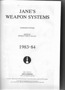 Jane's Weapons Systems 1983-84 by RT Pretty tactical strategic missiles etc